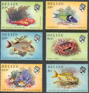 coral and fish stamps
