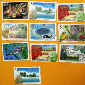 colourful stamps of Belize