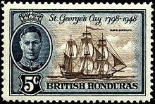 HMS Merlin on a stamp of 1949