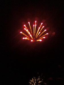 Fireworks in Caye Caulker Sept. 21st