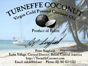 turneffe coconut oil